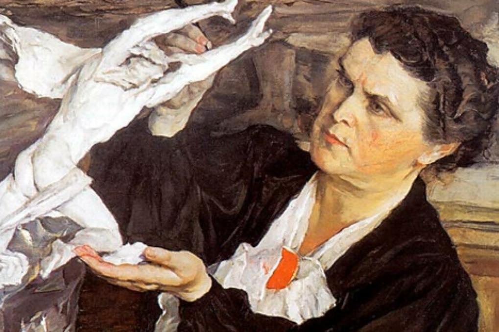 Mihail Nesterov: Portret kiparke Vere Muhine (1940).