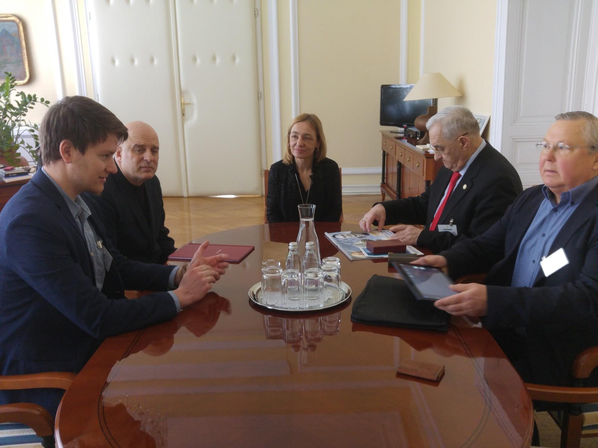 Sprejem in pogovor na Uradu predsednika Republike Slovenije.