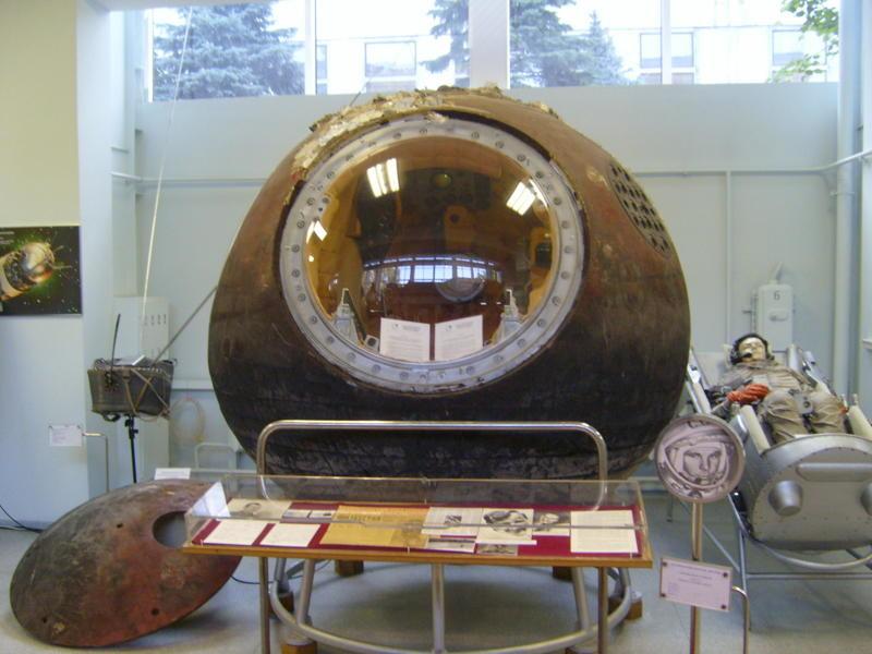 Kapsula Vostok, s katero je Jurij Gagarin obkrožil Zemljo. Danes je na ogled v muzeju RKK Energija blizu Moskve.