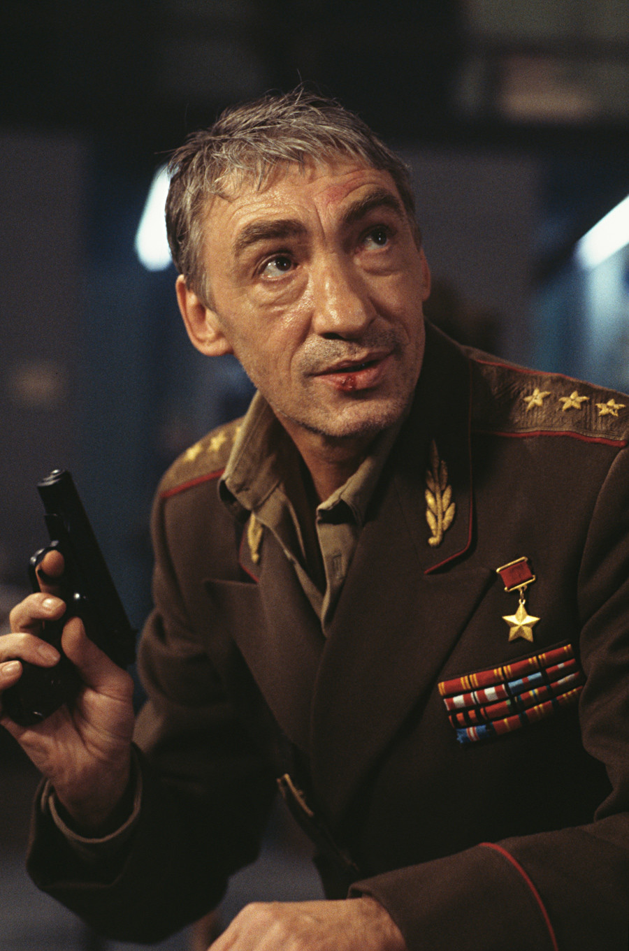 German actor Gottfried John stars as General Arkady Grigorovich Ourumov in the James Bond film 'GoldenEye', 1995.