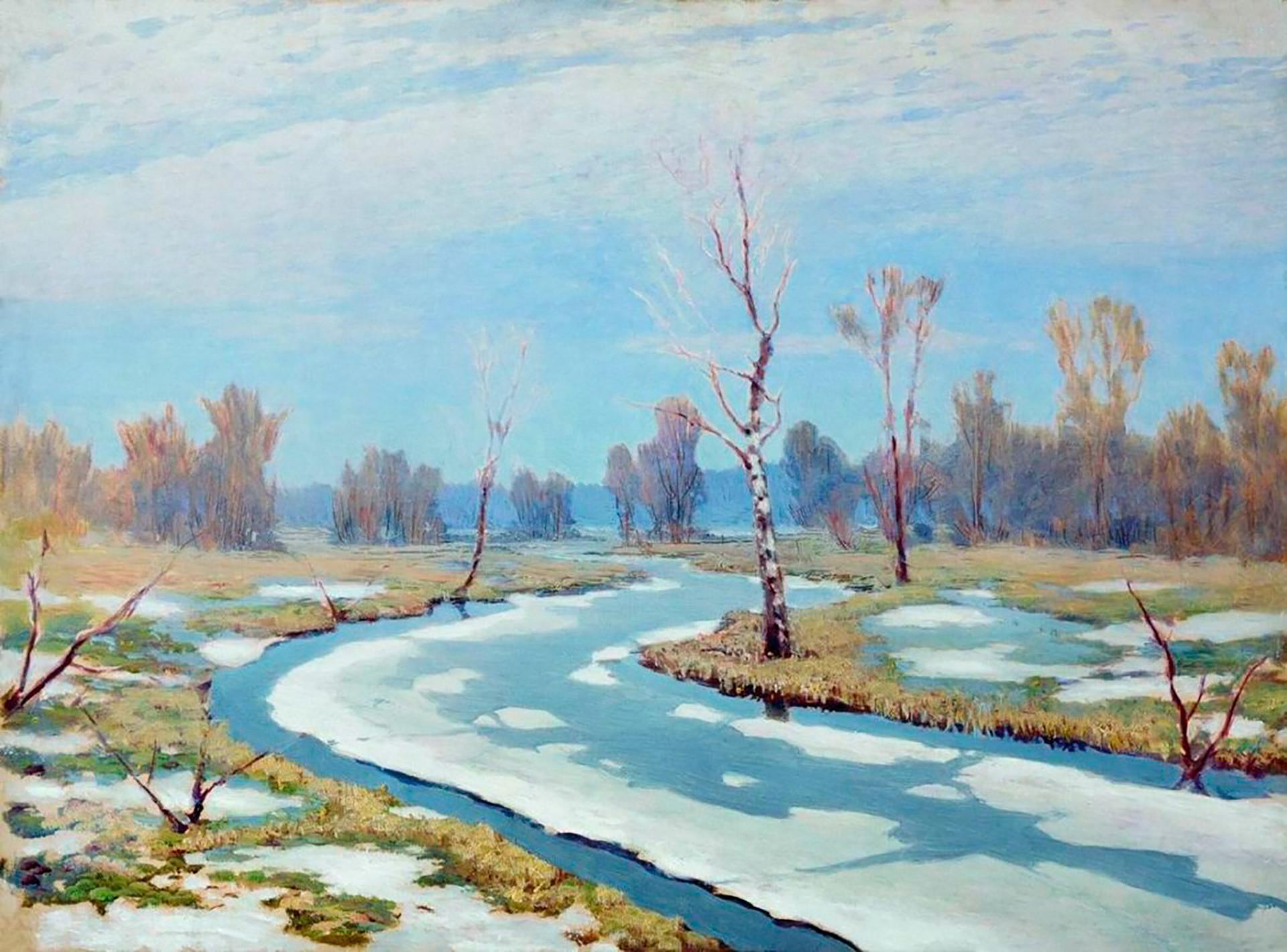 Early Spring, 1895, Arkhip Kuindzhi