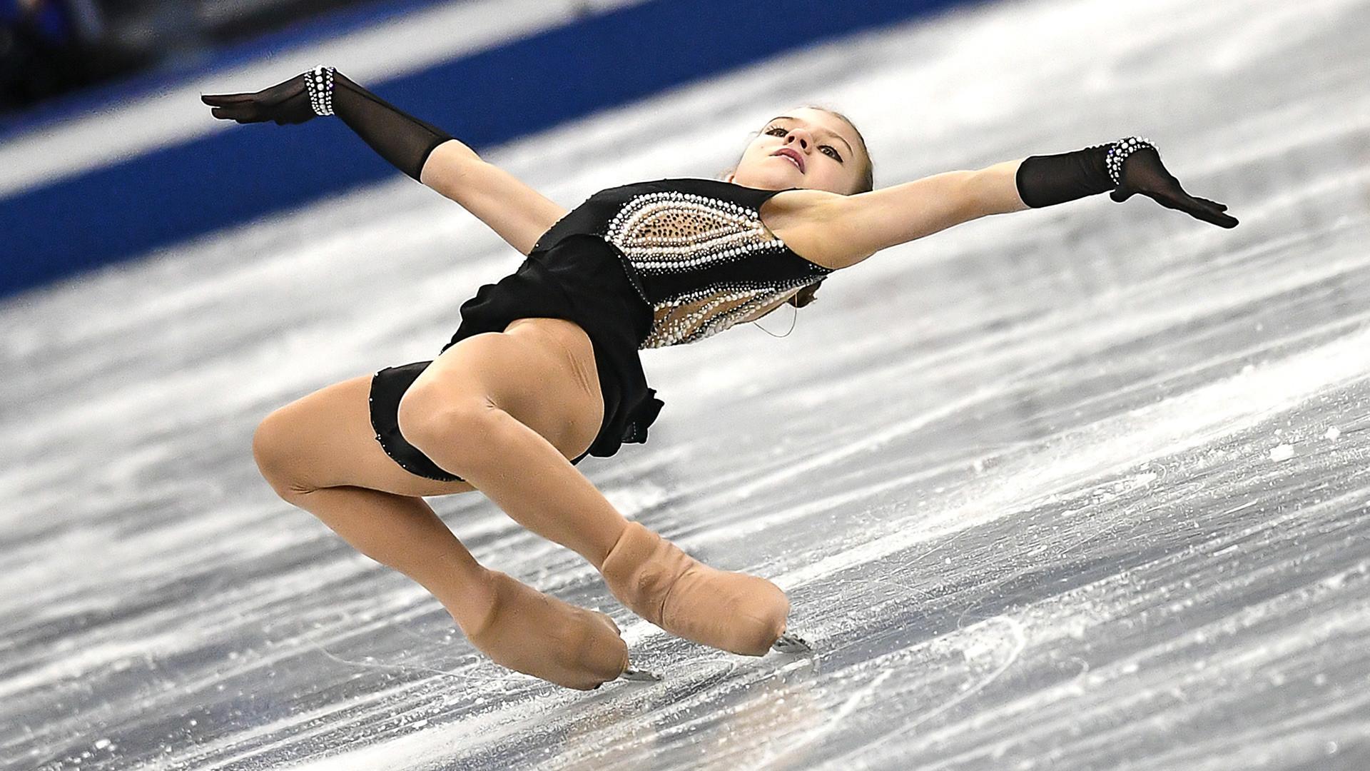 Aleksandra Trusova tem apenas 1,48 m de altura.