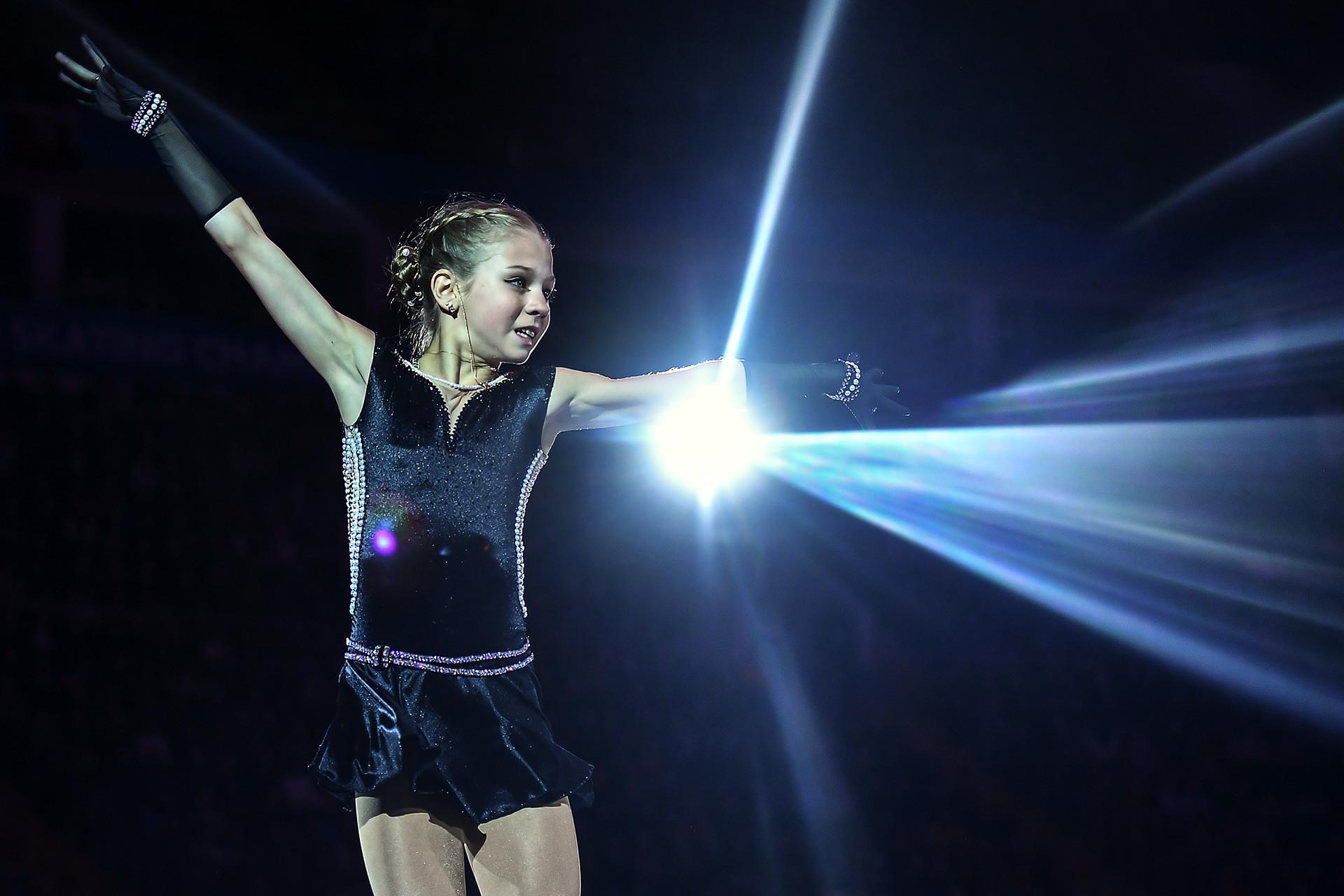 Segundo a própria Aleksandra, os saltos são o que ela mais gosta de fazer na patinação artística.