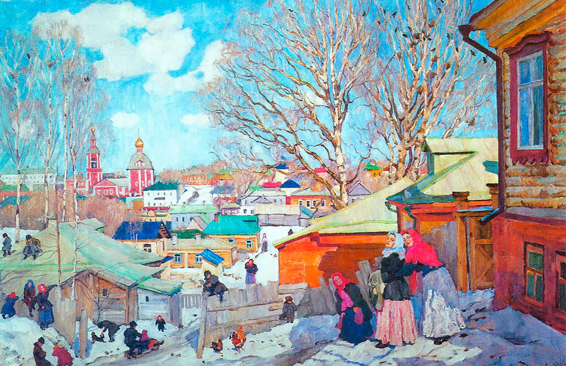 『晴れた春の日』、1910年