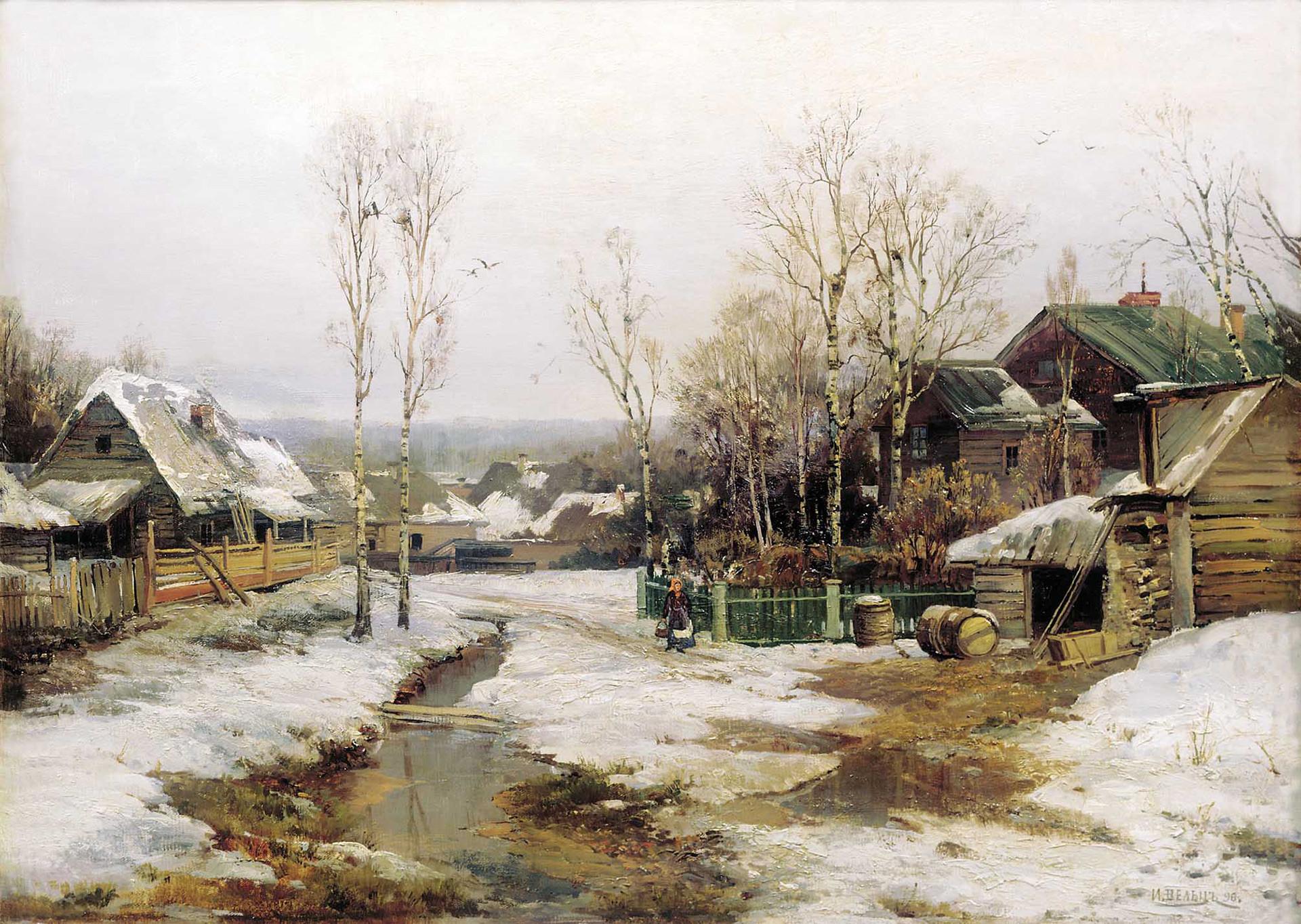 『サンクトペテルブルク付近での春』、1896年
