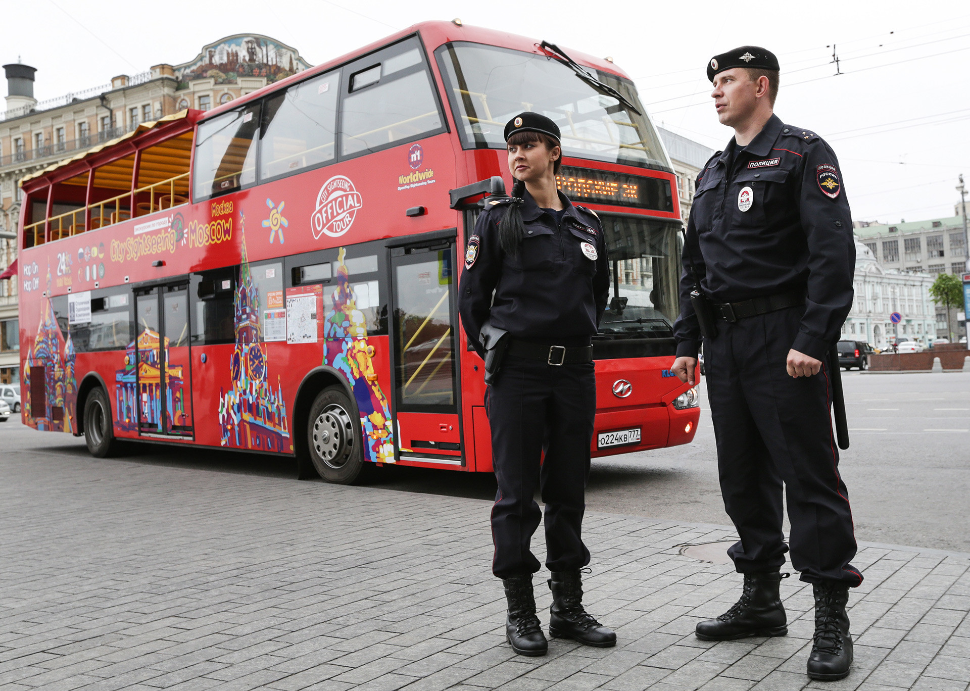 Polícia em Moscou.