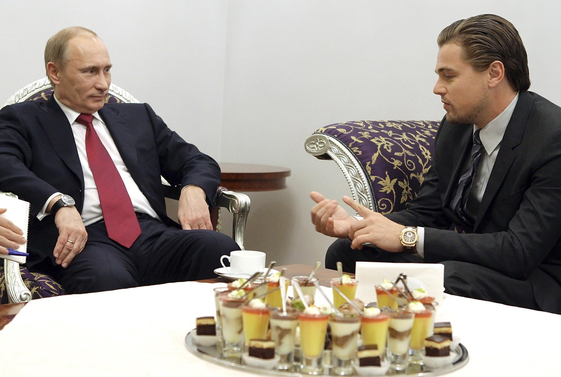 ウラジーミル・プーチンとレオナルド・ディカプリオ