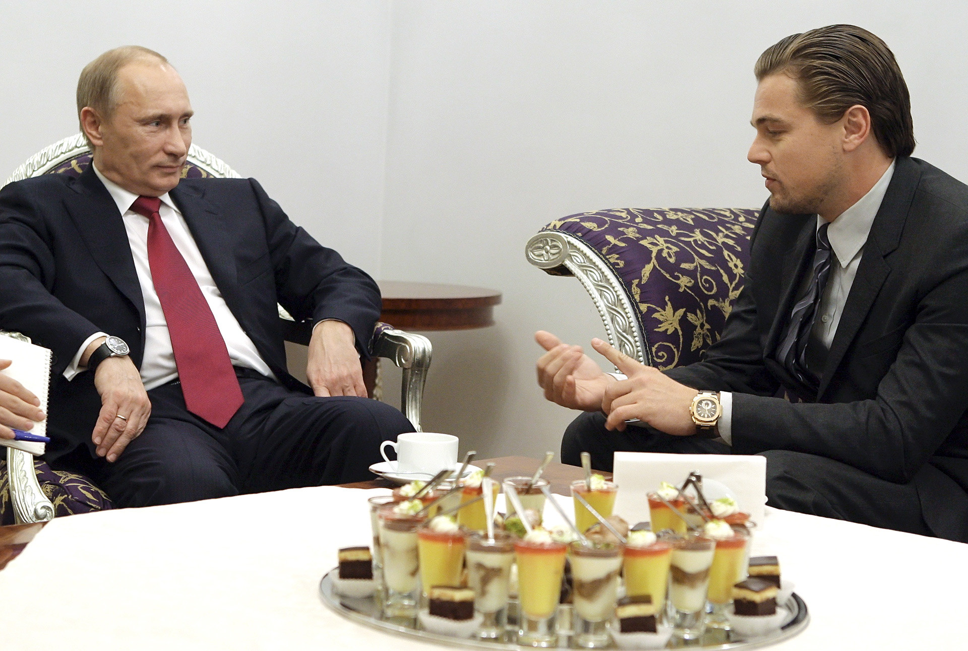 "DiCaprio said that he'd also like to play Vladimir Putin, because it is ""very, very, very interesting"""