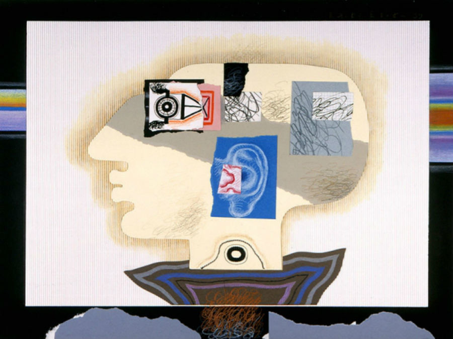 Du cycle Autoportraits, 1999. Papier coloré, pastelle, crayon. 60 x 80 cm