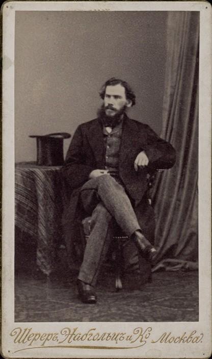 Tolstói en Bruselas, 1861.