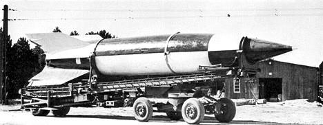 Немачка балистичка ракета V-2.