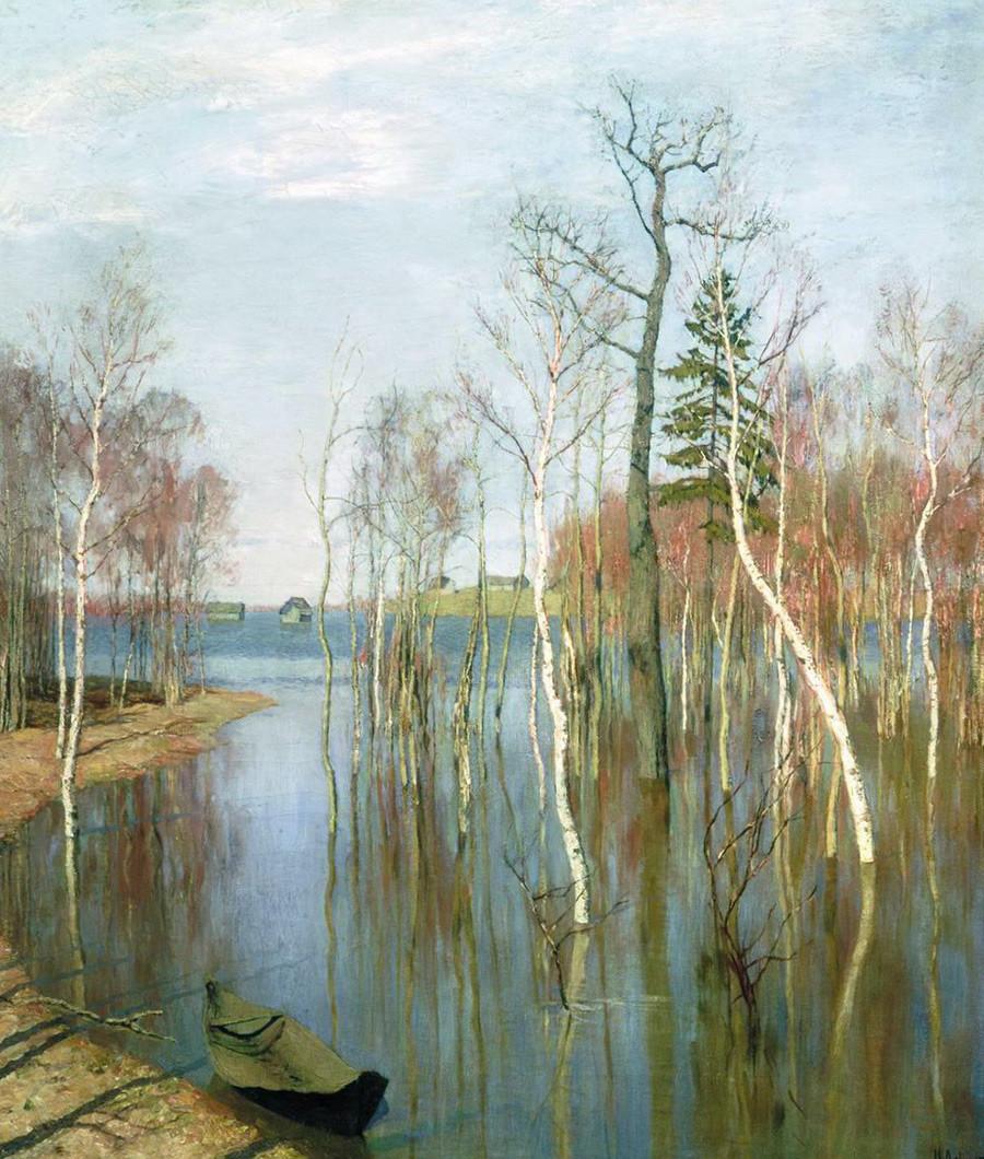 Pomlad. Visoka voda, 1897, Isaak Levitan