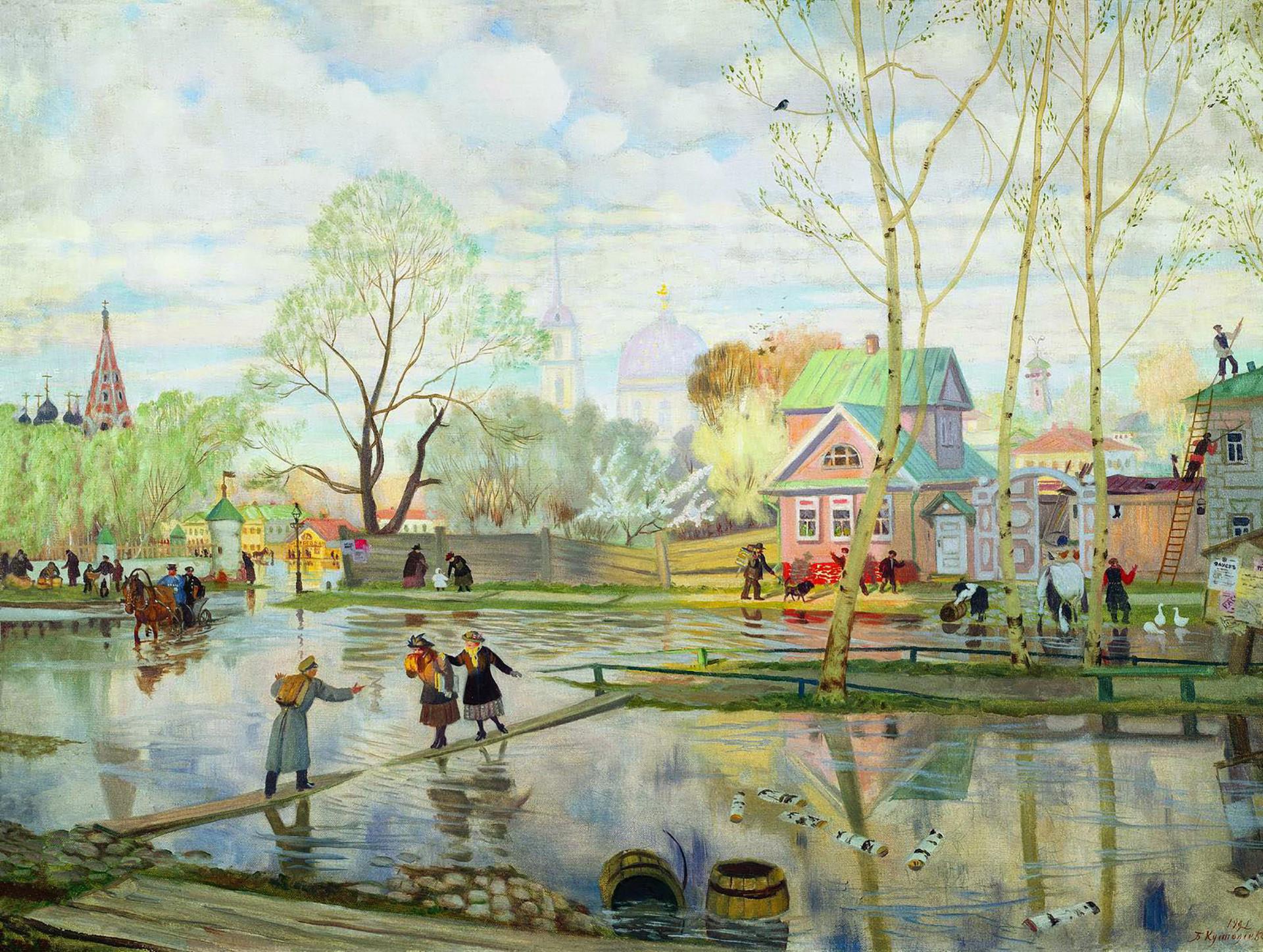 Pomlad, 1921, Boris Kustodijev