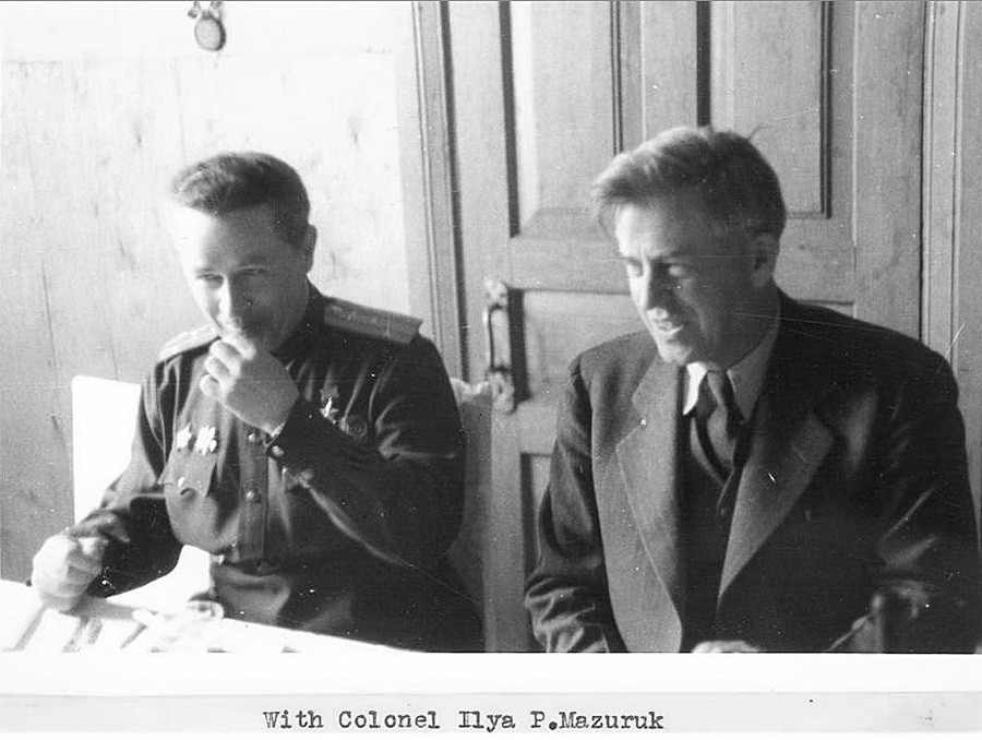 With Colonel Ilya P. Mazuruk, May 1944.