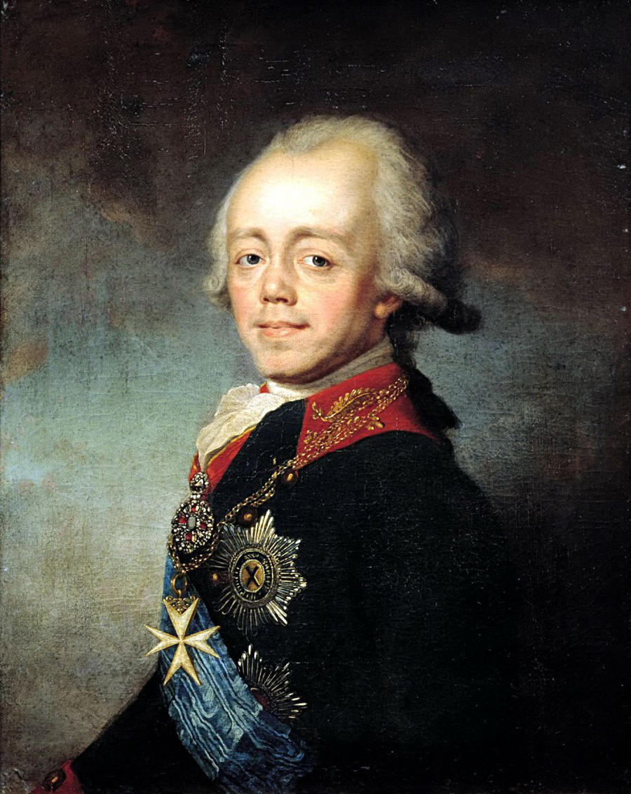 'Portrait of Emperor Paul I' by Stepan Shshukin