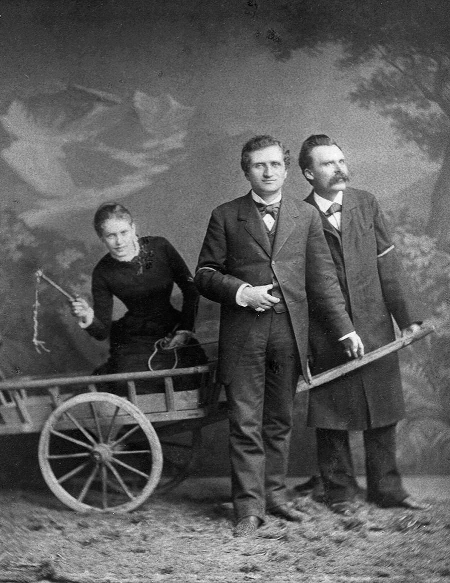 Lou Andreas-Salomé, Paul Rée e Friedrich Nietzsche, 1882.