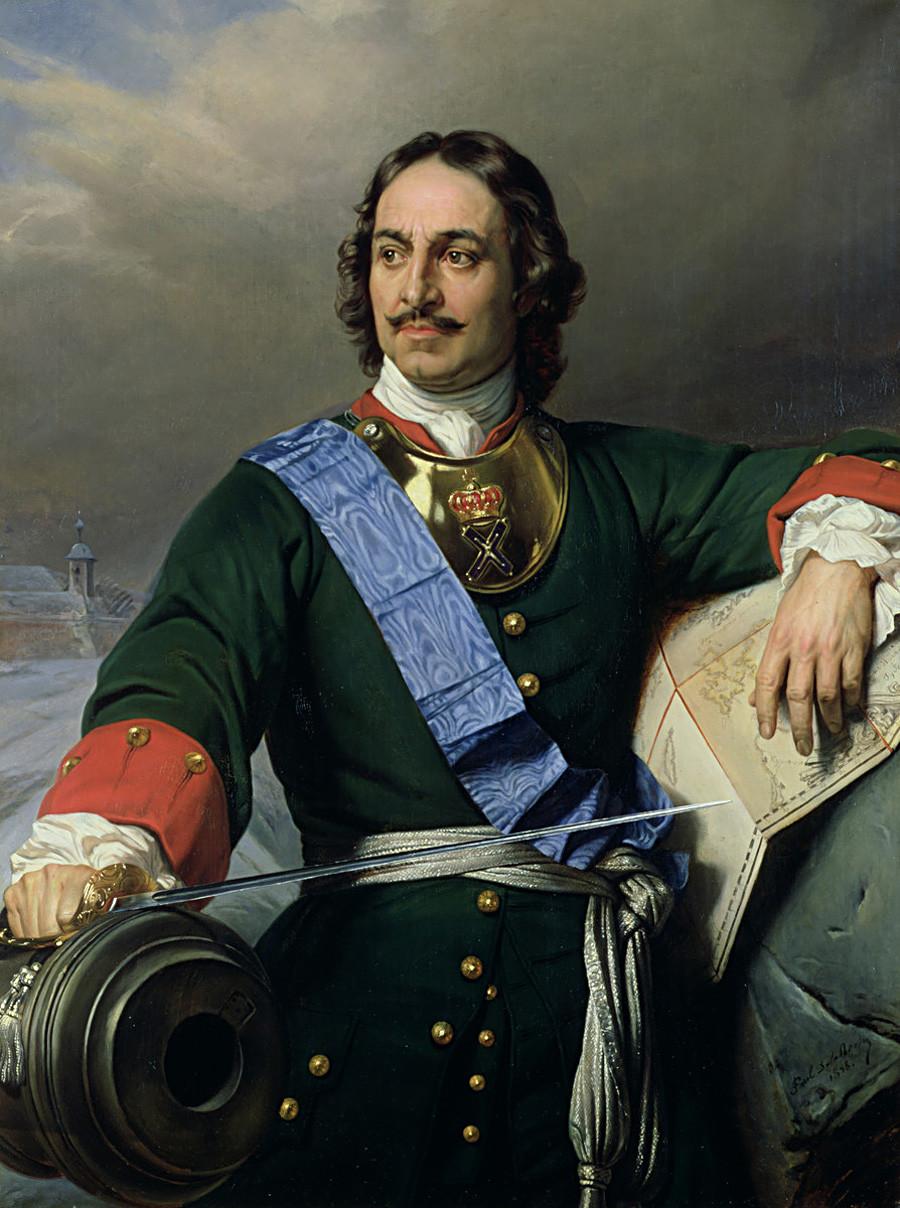 フランスの画家ポール・ドラローシュによる「ピョートル大帝」