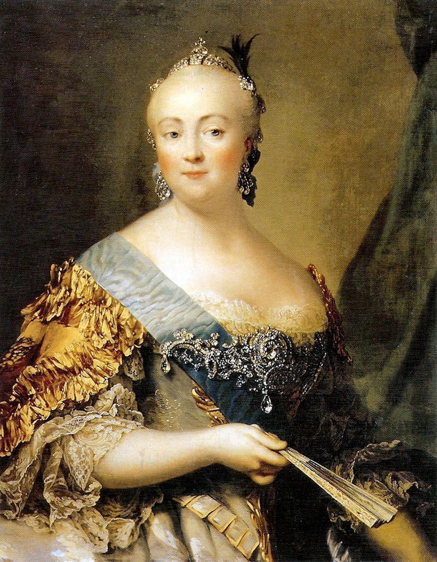 デンマーク出身の画家、ヴィルギリウス・エリクセンによる「女帝エリザヴェータの肖像」