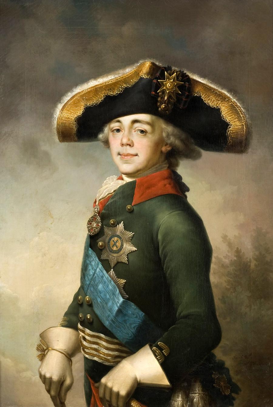 ウラジーミル・ボロヴィコフスキーによる「皇帝パーヴェル1世の肖像」