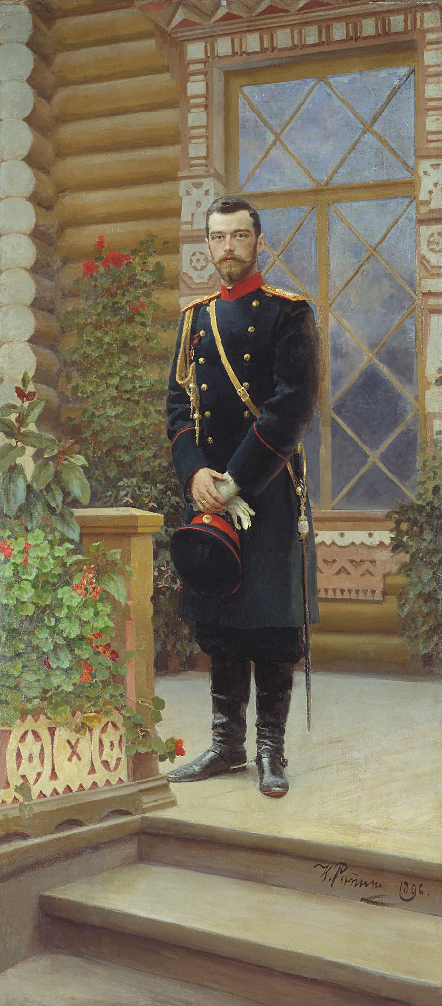 イリヤ・レーピンによるニコライ2世の肖像