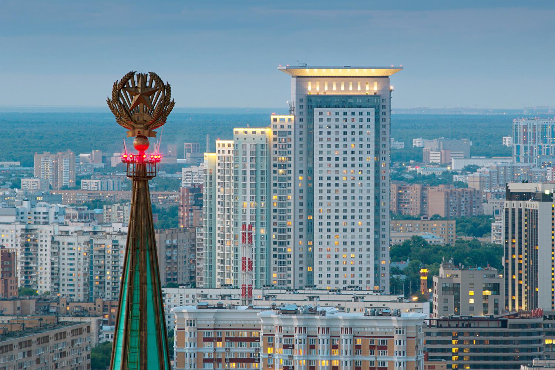 Spire of Leningradskaya Hotel
