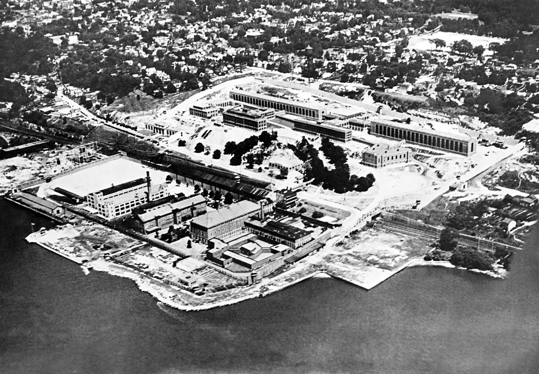 Vista aérea da prisão Sing Sing, em Ossining, Nova York, onde os Rosenberg foram executados.