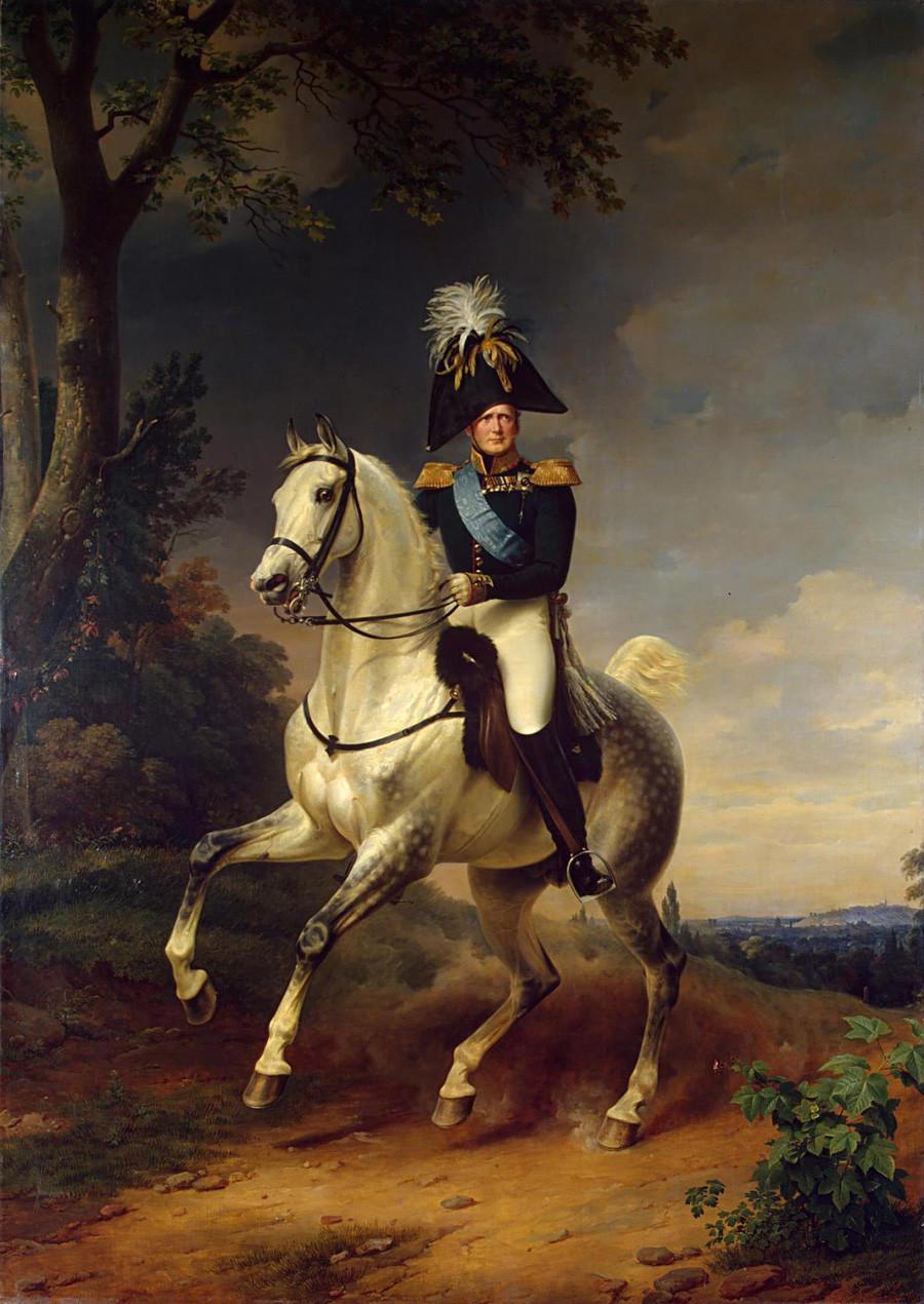 'Retrato de Alexandre 1º', de Franz Kruger, 1837