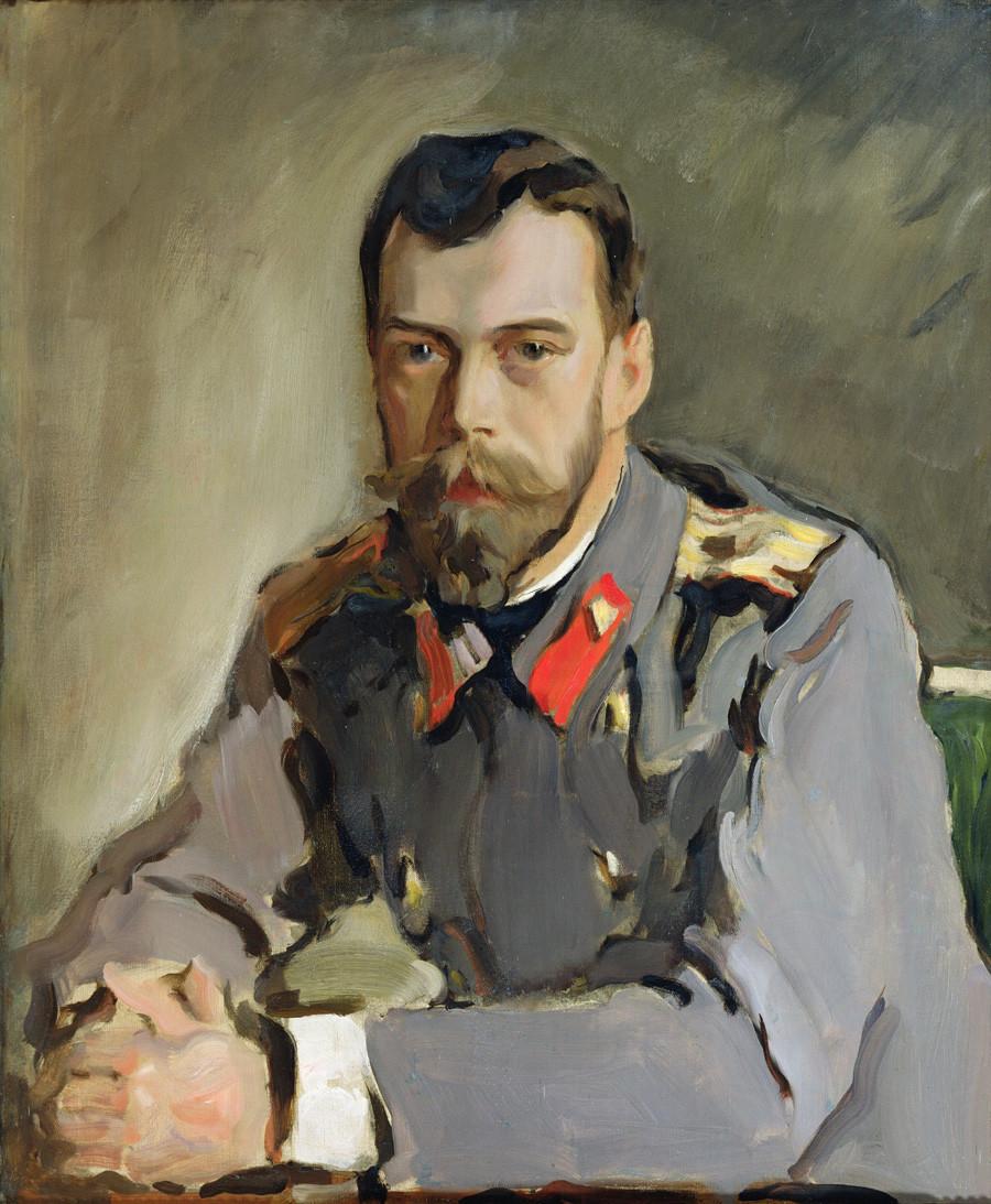 'Retrato de Nicolau 2º',de Valentin Serov