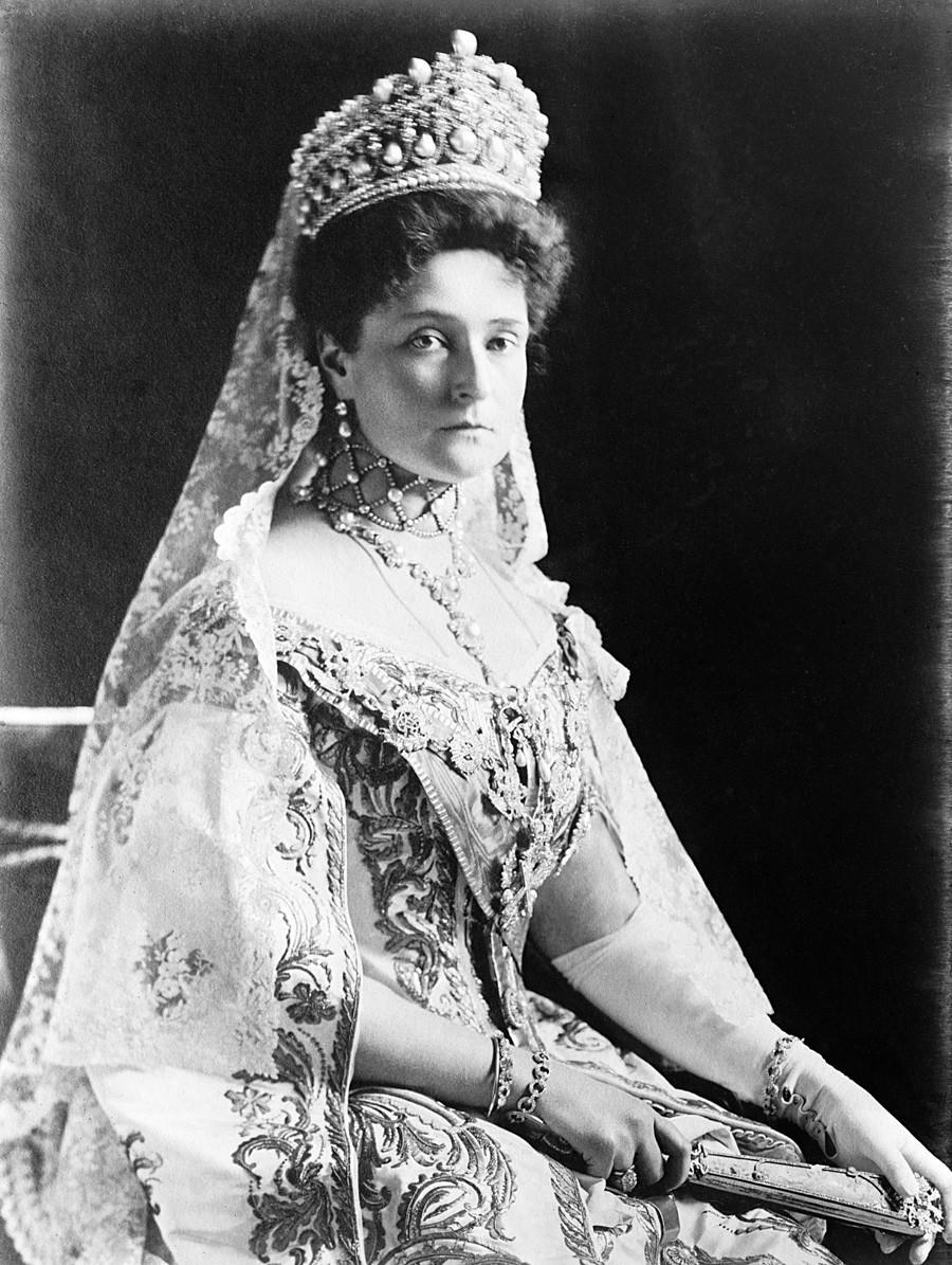 A imperatriz Aleksandra Fiodorovna.