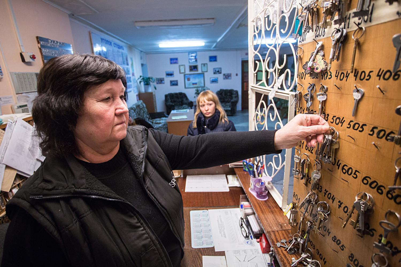 Segurança do alojamento da Universidade Agrária de Omsk.