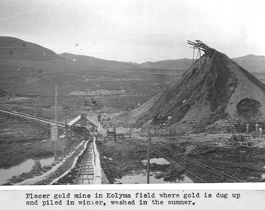 Рудник злата на Колими, 1944.