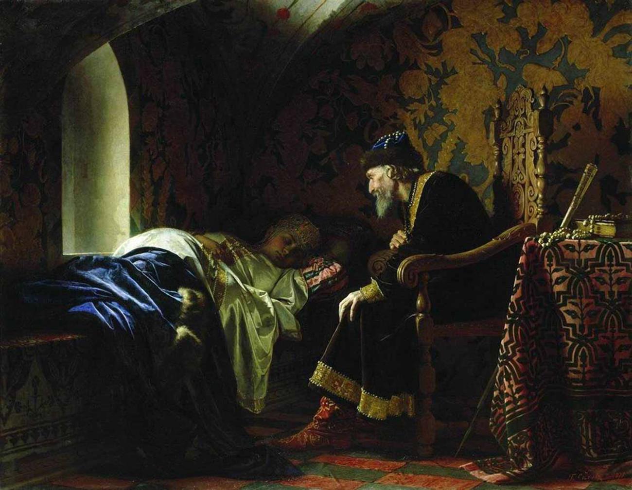 Ivan yang Mengerikan dan Vasilisa Lelentyeva, oleh Grigory Sedov.