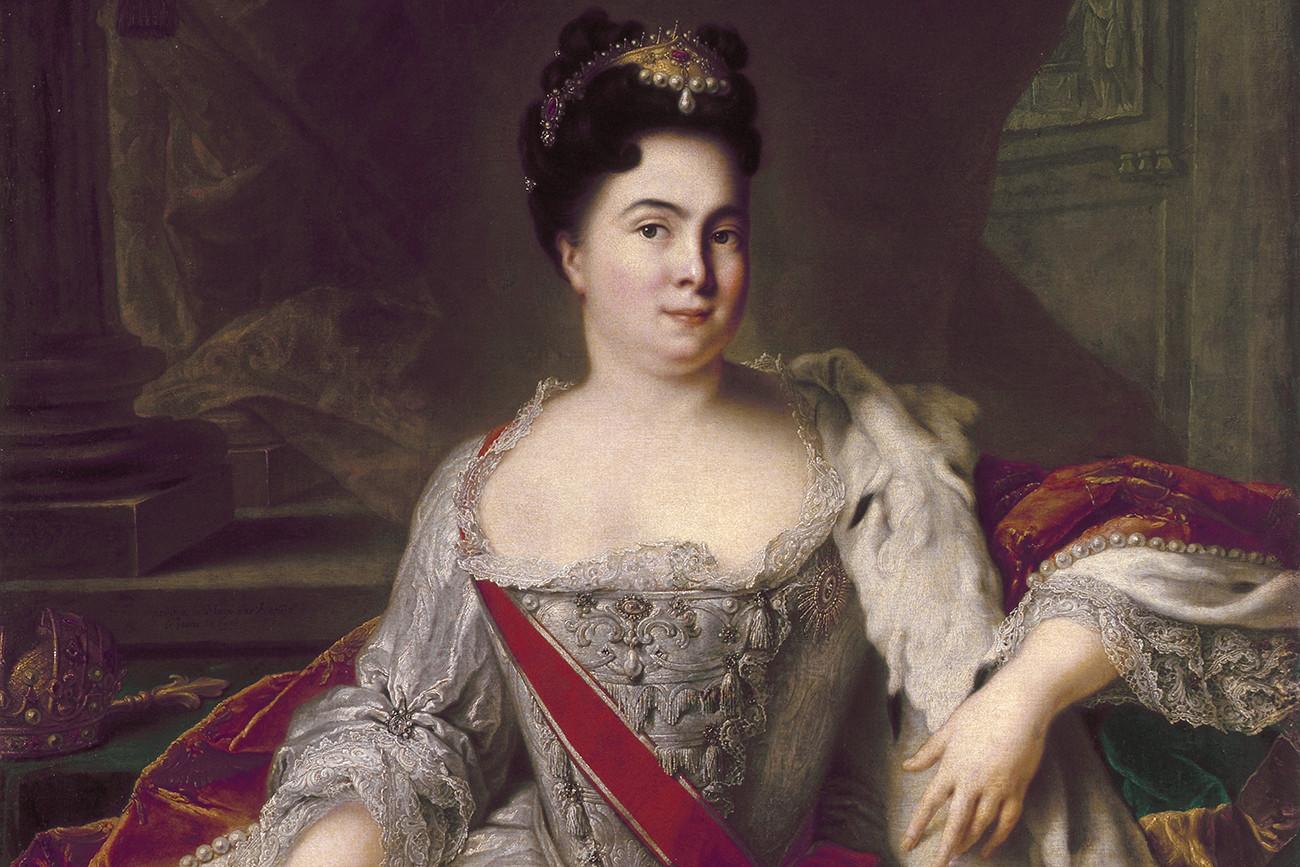 Potret Ekaterina I, istri Pyotr yang Agung, oleh Jean-Marc Nattier.