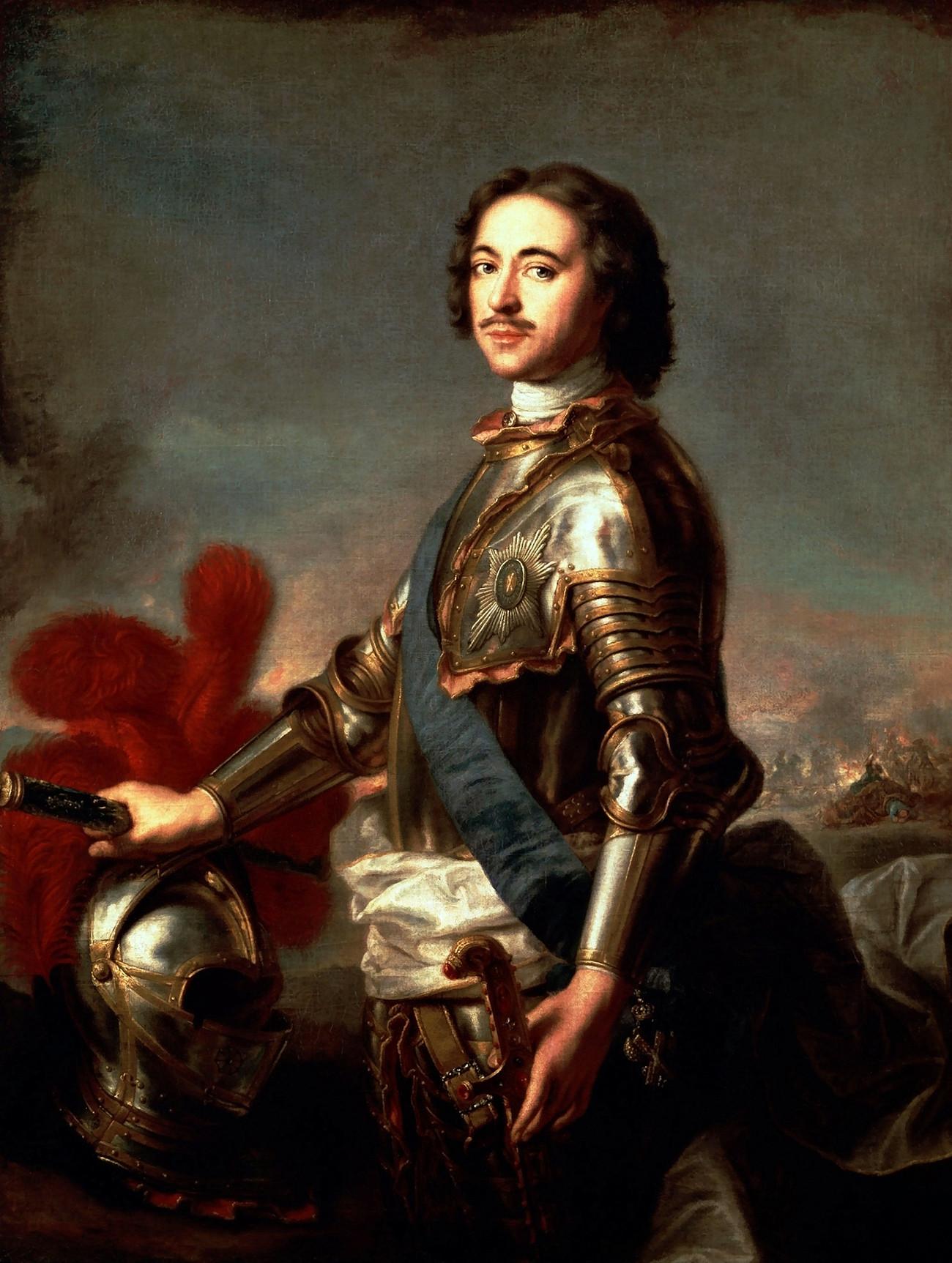 Pyotr yang Agung oleh Jean-Marc Nattier, 1717.