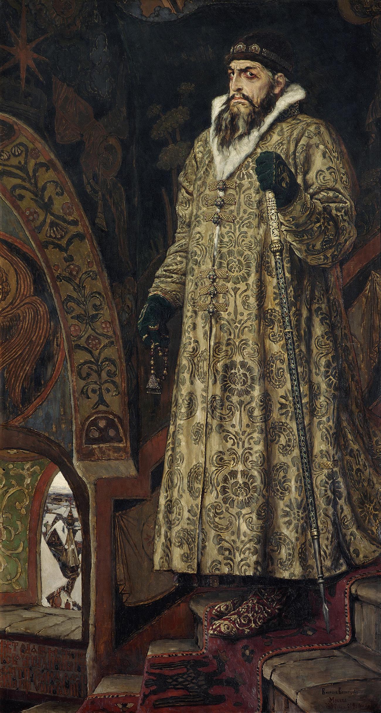 Tsar Ivan Vasilievich yang Mengerikan oleh Viktor Vasnetsov, 1897.