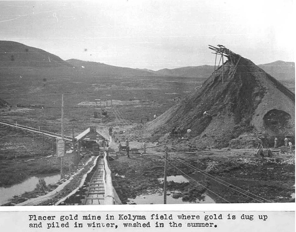 Rudnik zlata v Kolimi, 1944.
