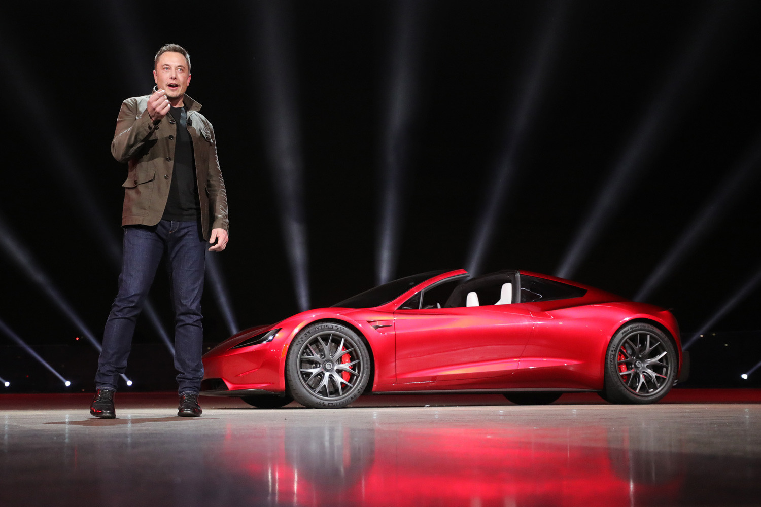 Електромобил Tesla Motors 2020 Roadster, САЩ, 2017 г.