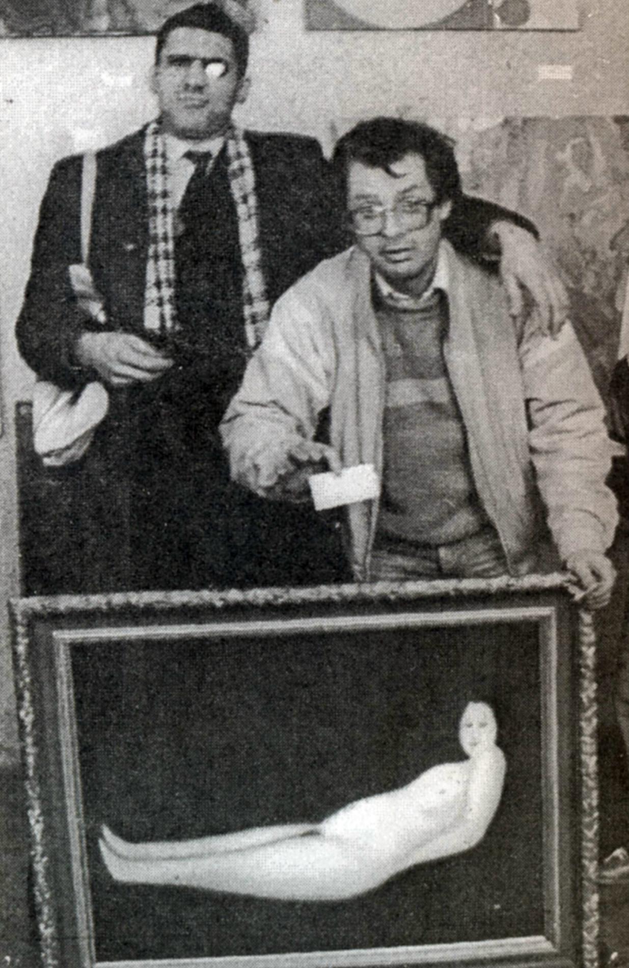Umetnika Avdej Ter-Oganjan and Jurij Palaičev z njunim delom
