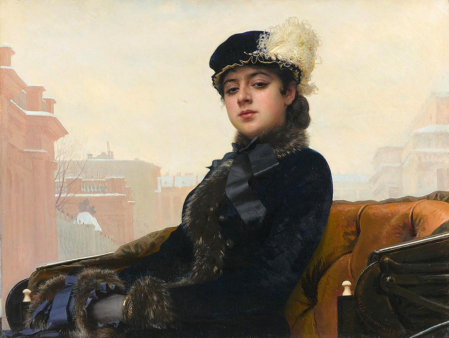 Portrait Of An Unknown Woman 1883 By Ivan Kramskoy Tretyakov Gallery Kramskoys Most Famous Painting