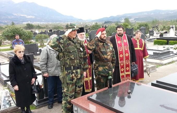 Мијајло Бацковић на парастосу погинулим у НАТО агресији