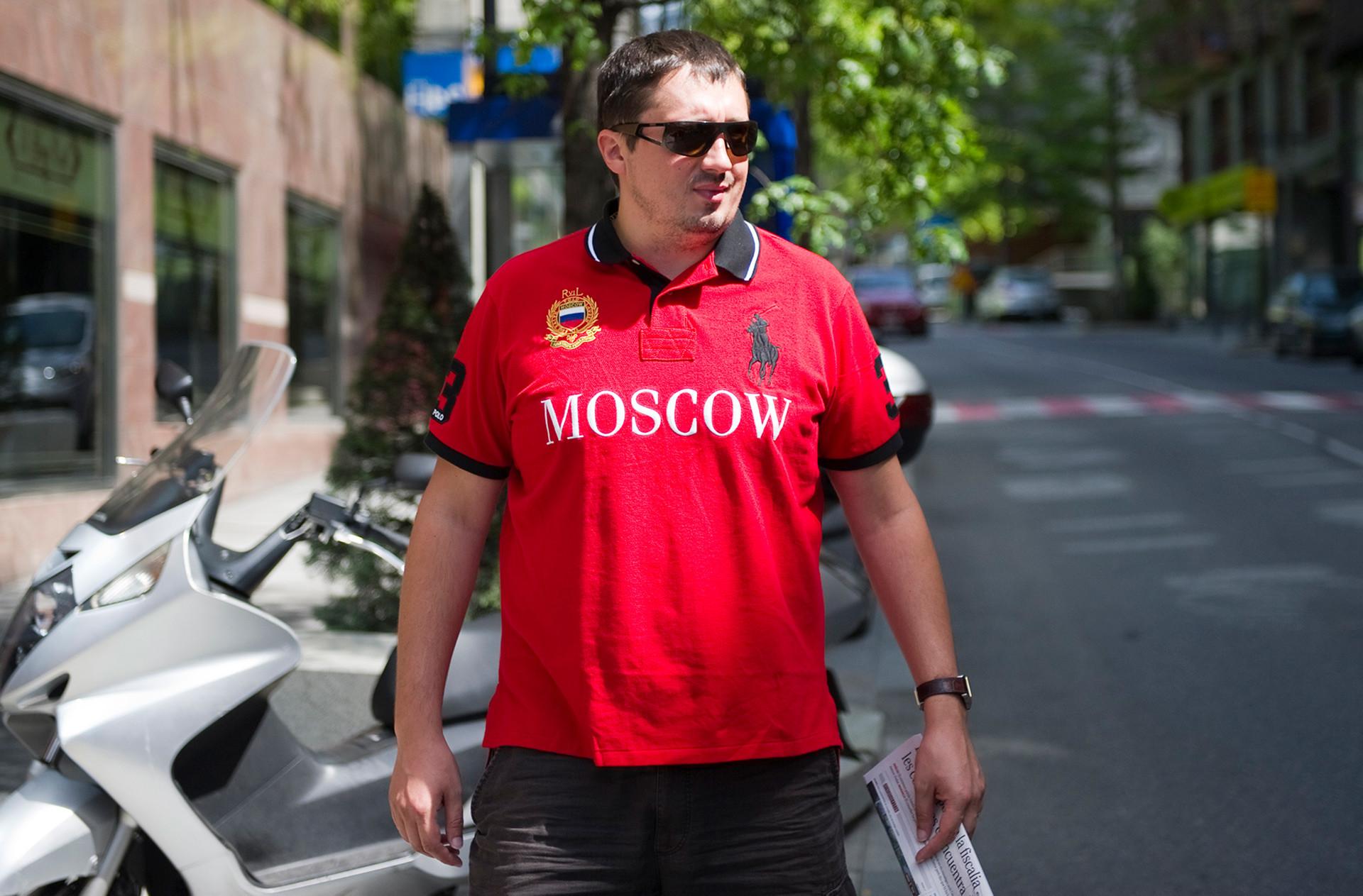 Aleksandr Shprygin, presidente dell'associazione nazionale russa dei tifosi di calcio