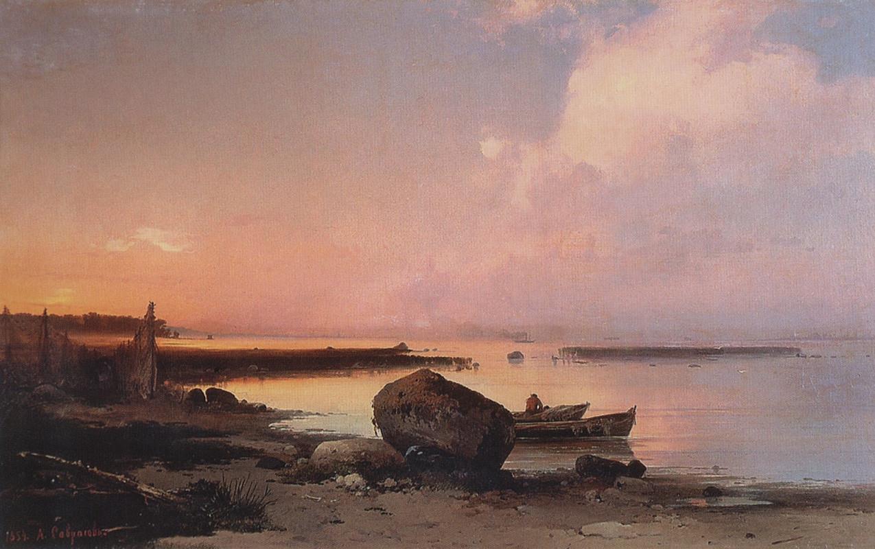 La riva del mare vicino a  Oranienbaum