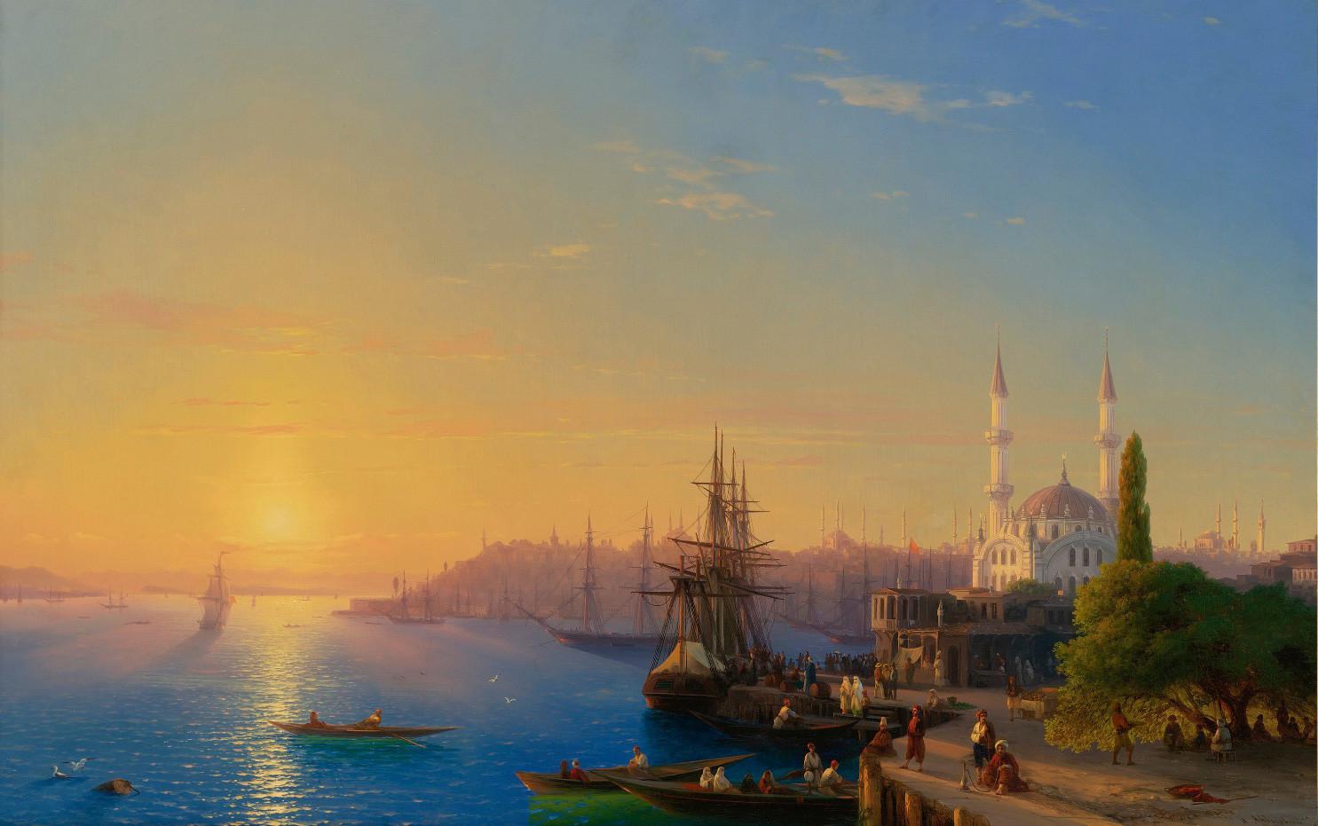 """Поглед на Цариград и Босфорски залив"""