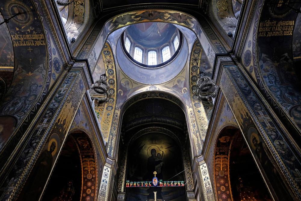 キエフの聖ウラジーミル大聖堂のフレスコ画