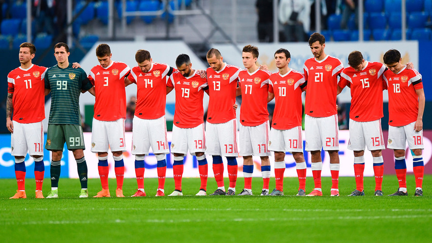 Equipo nacional de fútbol de Rusia.