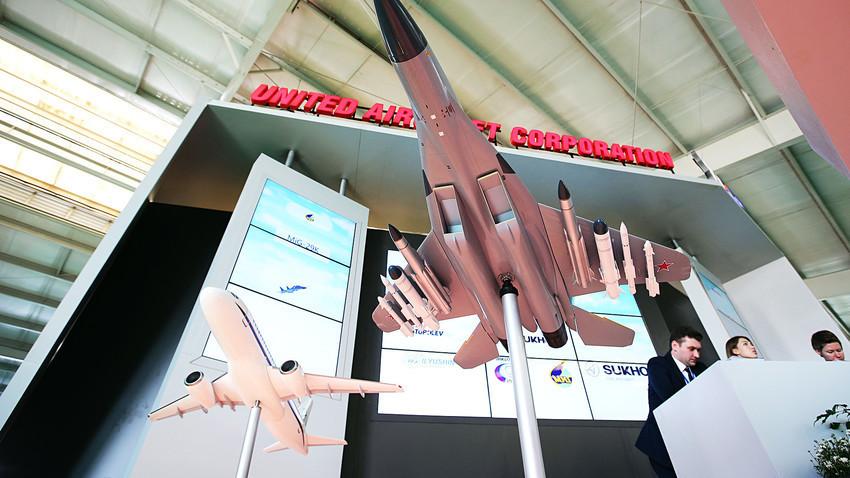 Ujedinjena korporacija za proizvodnju zrakoplova OAK na  FIDAE 2018 na međunarodnom aerodromu Comodoro Arturo Merino Benitez, Santiago, Čile, travanj 2018.
