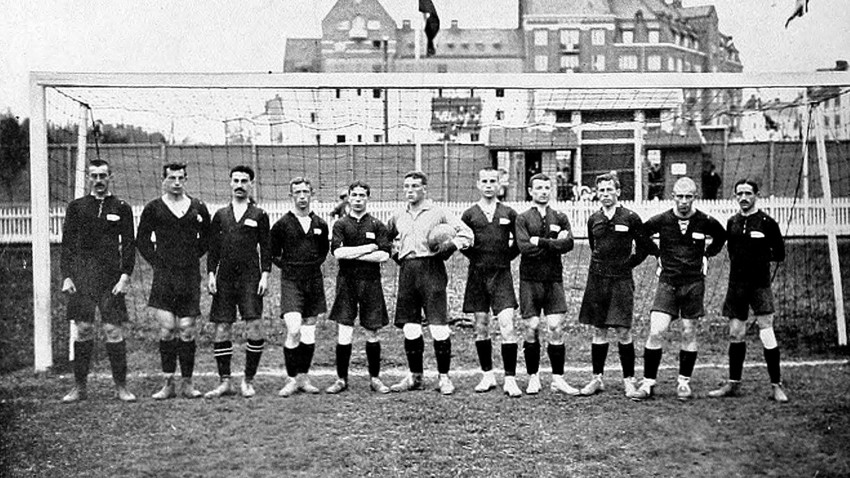 Russische Fußballnationalmannschaft bei den Olympischen Spielen in Schweden, 1912