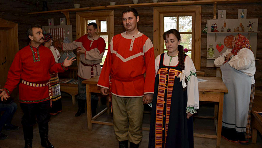 Cerimonia al museo riserva Tarkhanij