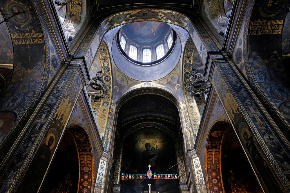Freske u katedrali svetog Vladimira u Kijevu.