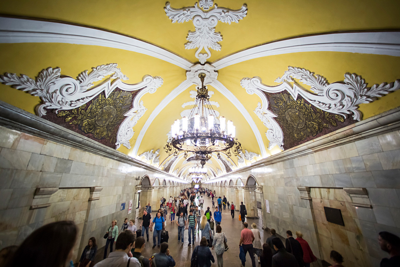 モスクワ地下鉄のコムソモリスカヤ駅